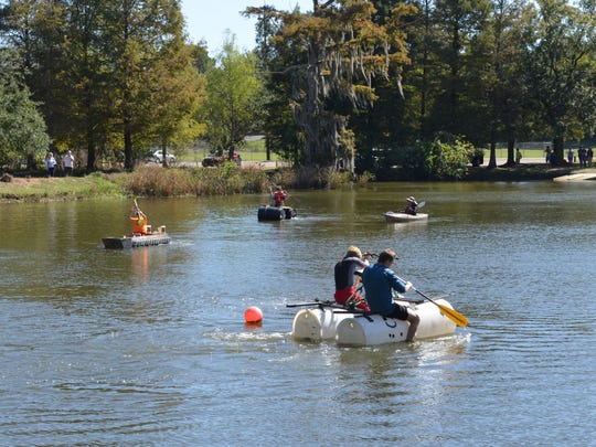 The Reduce, Reuse, Re-Paddle Craft race encourages competitors to create a boat from recycled materials.