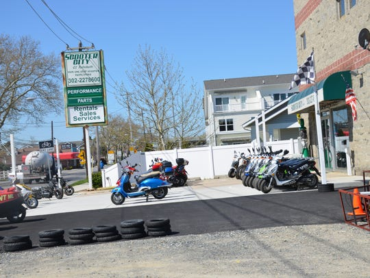 Scooter City in Rehoboth Beach.