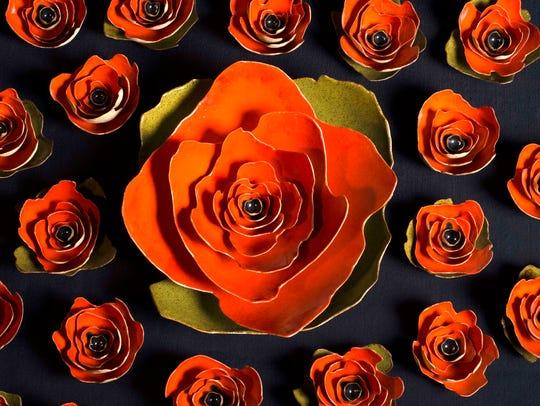 Ceramic poppies recall artist Janet Williams' memories