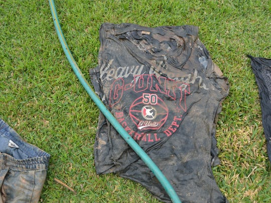A shirt found with the body of an unidentified migrant who was discovered in the All-American Canal in March.