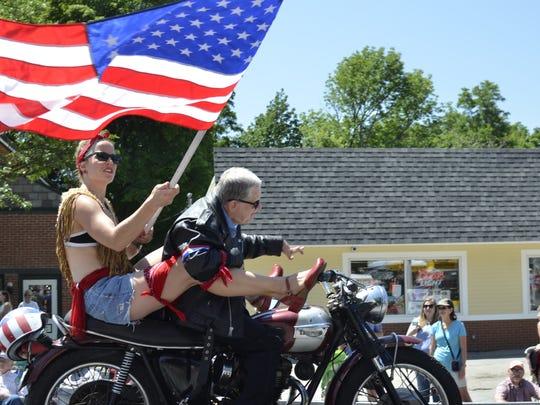 Paraders from Zeno Mountain Farm, a camp for developmentally disabled adults, in Bristol on July 4 2016