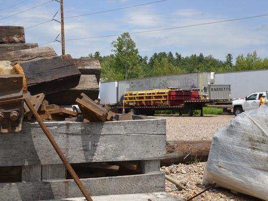 Vermont Rail work site in Shelburne, on Thursday, July