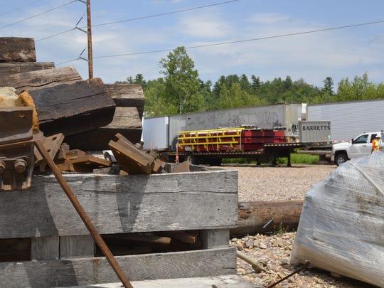 Vermont Rail work site in Shelburne, on Thursday, July 14.