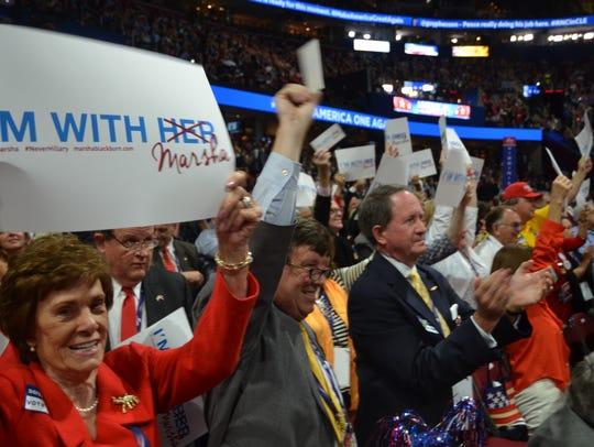Members of the Republican Party Tennessee delegation