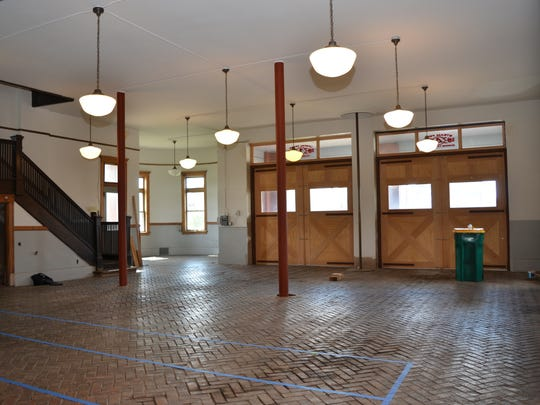 The interior of The Fire Hub at a former Battle Creek fire station ahead of a renovation by FireKeepers Casino Hotel later this year. It is expected to be open Oct. 7.