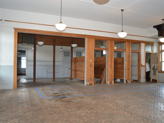 The interior of The Fire Hub at a former Battle Creek fire station ahead of a renovation by FireKeepers Casino Hotel. The Fire Hub will be open Oct. 7, the casino said.