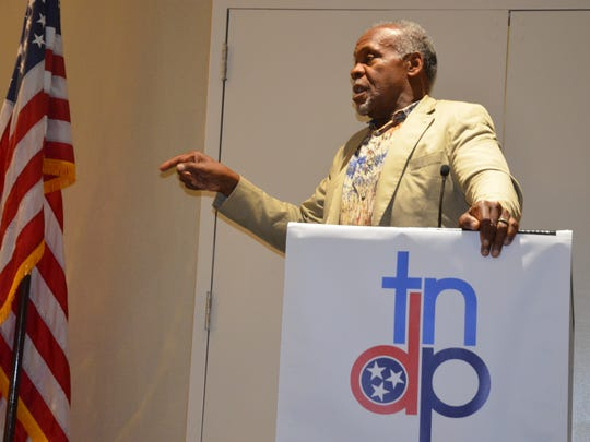 Actor and political activist Danny Glover speaks to