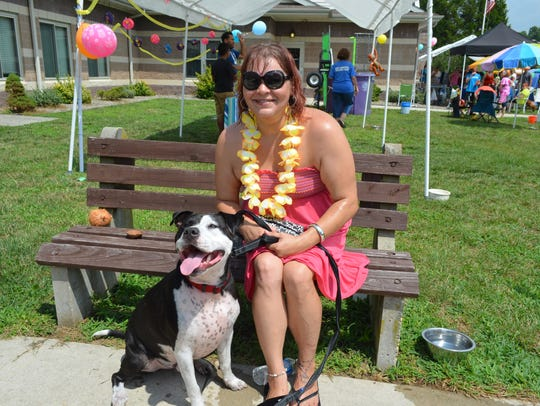 Kristen Smith of Vineland and her dog, Benny, relax