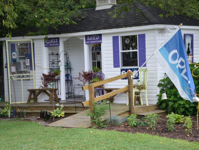 The Glass Shed at Lavender Fields in Milton. The shed
