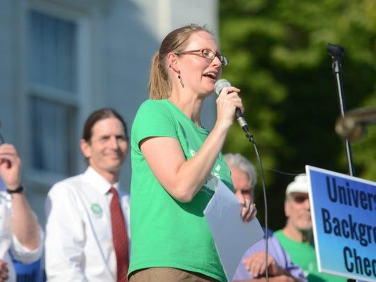 Ann Braden, head of the group Gun Sense Vermont, says