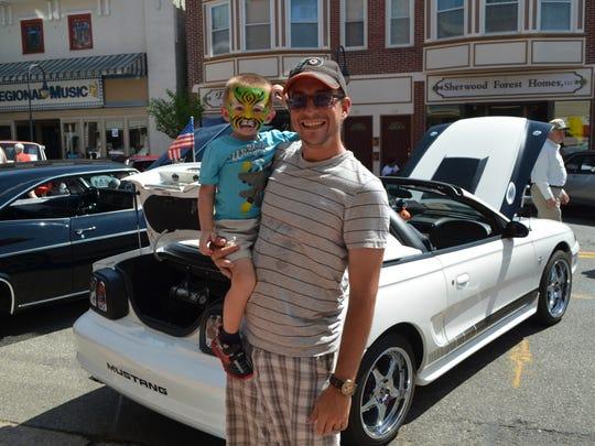 Jason Scheuren and Jason Scheuren Jr., 3, both of Haddon