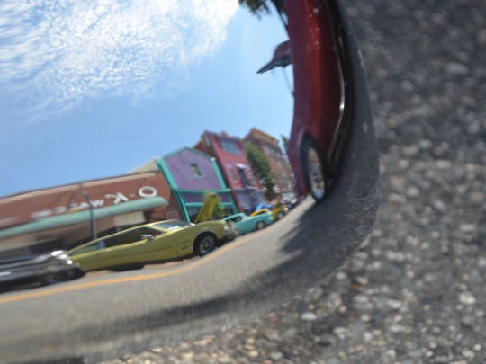 Classic cars along High Street in Downtown Millville