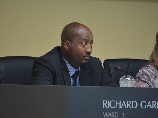 Ward 1 Councilman Richard Garrett at the October city
