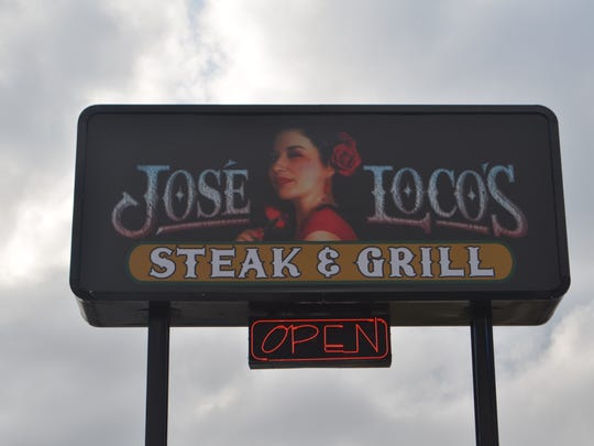 The sign in front of Jose Loco's features the image of its owner Maria Valdovinos.