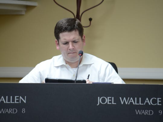 Ward 9 Joel Wallace  during the special session on
