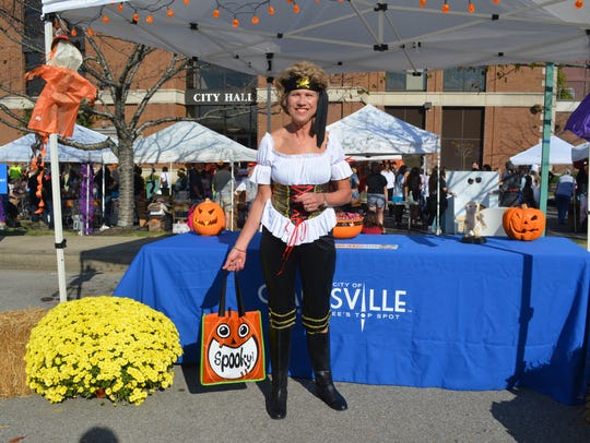 City Mayor Kim McMillan was part of the trick-or-treating
