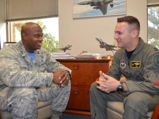 Capt. Paul Harris, chaplain at the 80th FTW at Sheppard,