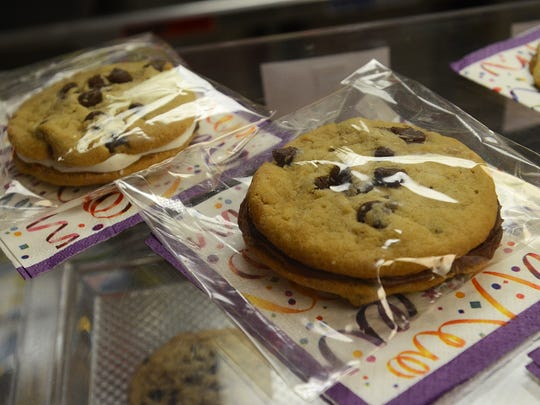 Crazy Cousin Cupcakes has more than cupcakes. The bakery also stocks cookie sandwiches, brownie pizzas and cake pops.