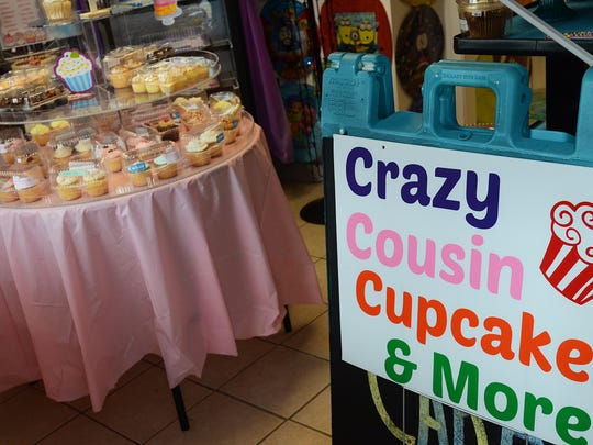 Crazy Cousin Cupcakes is located at 102 Broadway St., Marine City.