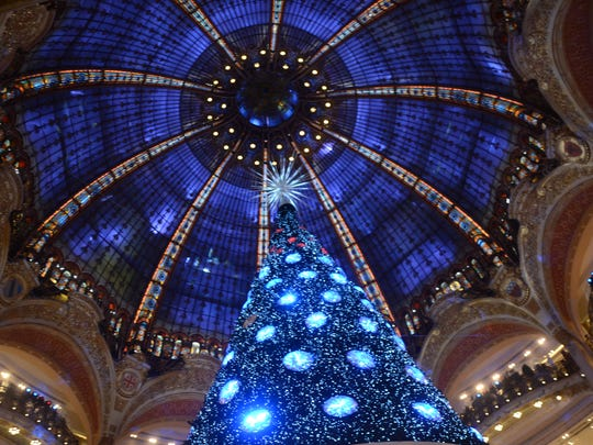 Galeries Lafayette during the holidays; retailers aren't