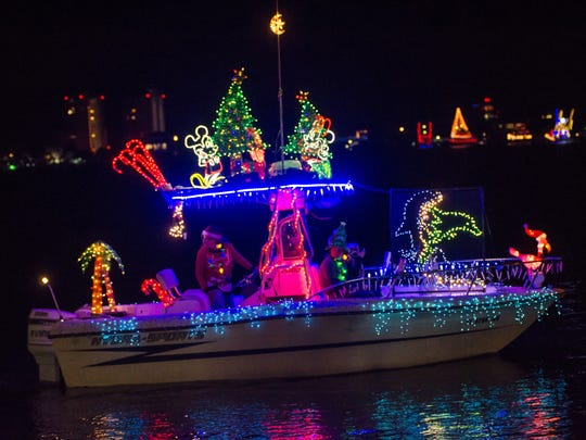 2016 Christmas Lighted Boat Parade from Sabine Marina