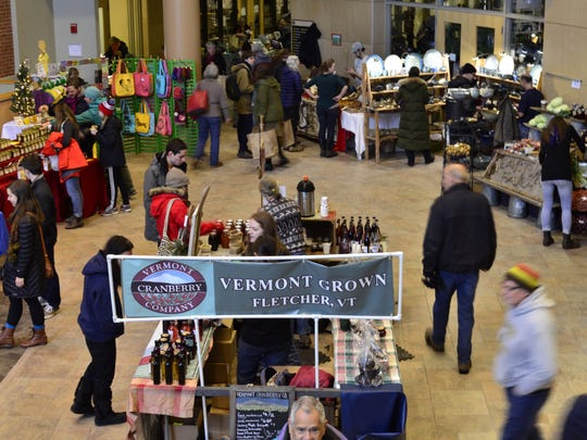Burlington Farmers Market is at the University of Vermont's Davis Center this winter. This was the last market before the holiday break on Dec. 17, 2016.