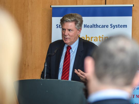 Rep. Frank Pallone gave examples of people from his district in Central Jersey who would be hurt by the repeal of Obamacare.