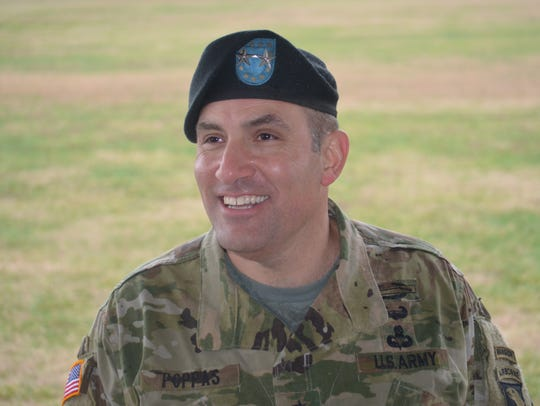 Major General Andrew Poppas at the Division Change