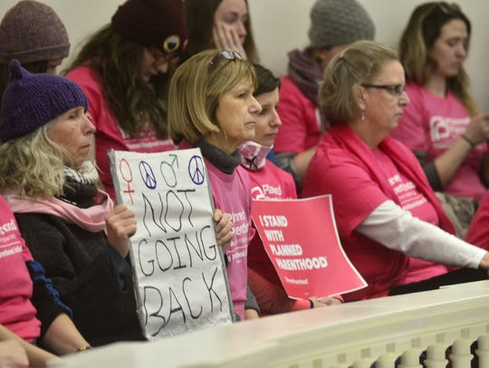 Supporters of Planned Parenthood fill the gallery at