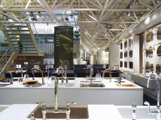 Numerous Kohler products are on display at the Kohler Design Center.