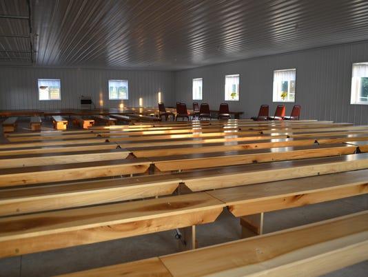 Amish Kitchen church benches