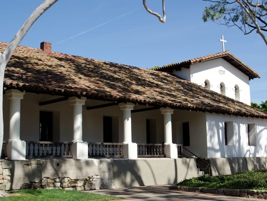 The entrance of the old Mission at San Luis Obispo