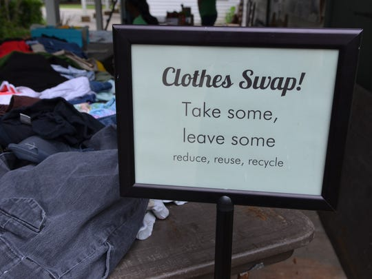 Clothing swaps are one way to reduce, reuse, recycle