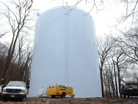 Ringwood's newly refreshed water tank on Skyline Drive