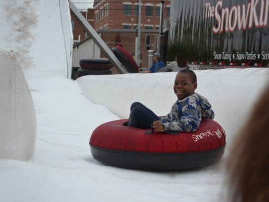 Snow Slide was one of the popular attractions in the