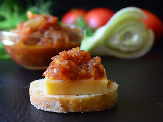 Serve with Tomato Fennel Jam as an appetizer with hard