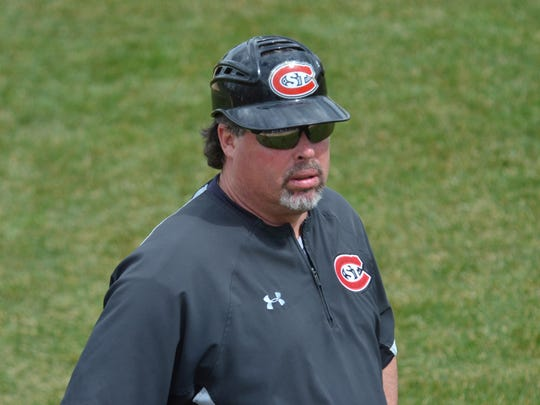 St. Cloud State head coach Pat Dolan is pictured in 2017.