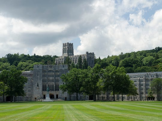 The Military Academy at West Point, New York. Parade