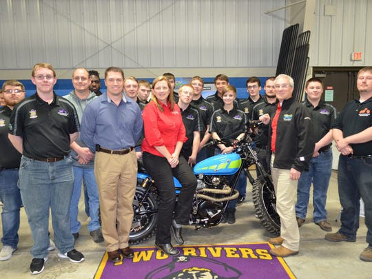 Two Rivers High School's Mini-Chopper team.