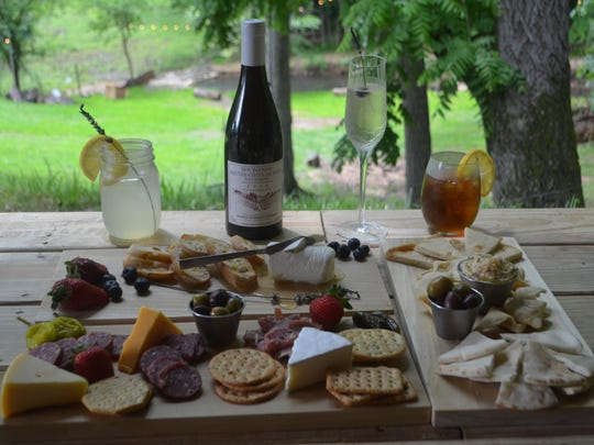 There is an array of tasty treats available at Lavendar Falls. Be sure to order the lavender Prosecco if you like sweet drinks.
