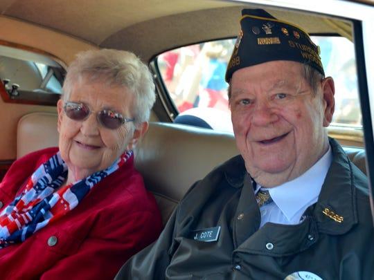 Maifest parade marshals Jerry and Judy Cote