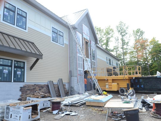 West Milford's library takes shape in this Sept. 27, 2016 photo.