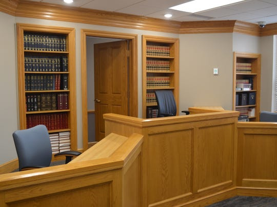 New courtroom for juvenile judge Brad Smith among the new renovations at the Sandusky County Courthouse.