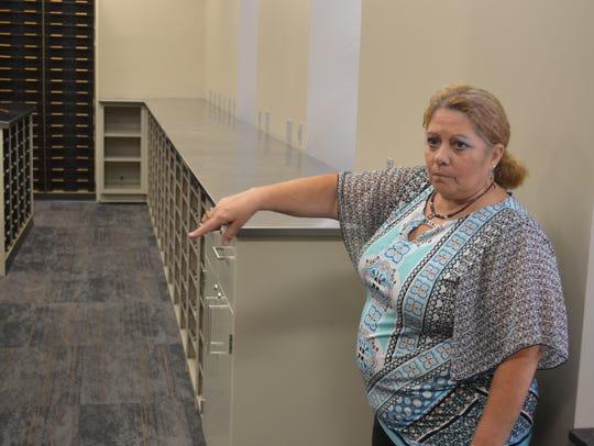 Sandusky County Administrator Theresa Garcia shows