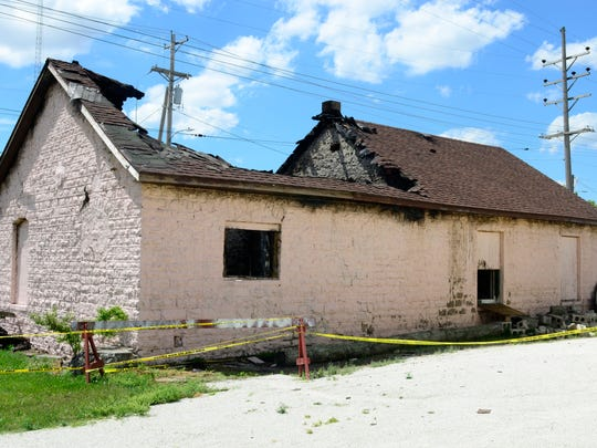 The fire that damaged the stone depot in Genoa was ruled to be arson and a $5,000 reward is being offered for information leading to the perpetrator's arrest.