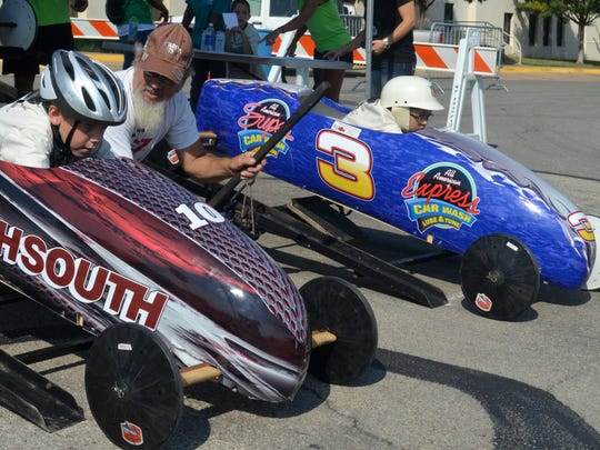 Racers get ready to descend the Ninth Street Hill outside of the Downtown YMCA as part of the Soap Box Races. The races return to the Downtown YMCA from 9 a.m. to noon July 1.