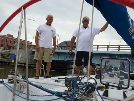 Margaret Rintoul IV Skipper Tim Wilkinson, right, and