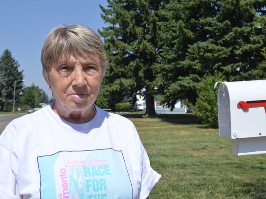 Penny Douglas, Conrad resident, supports the recall against Sheriff Carl Suta.