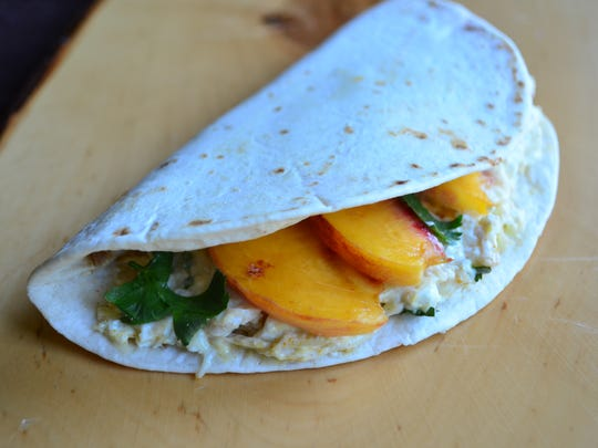 This Chicken, Peach, Curry Quesadilla is for an adventurous