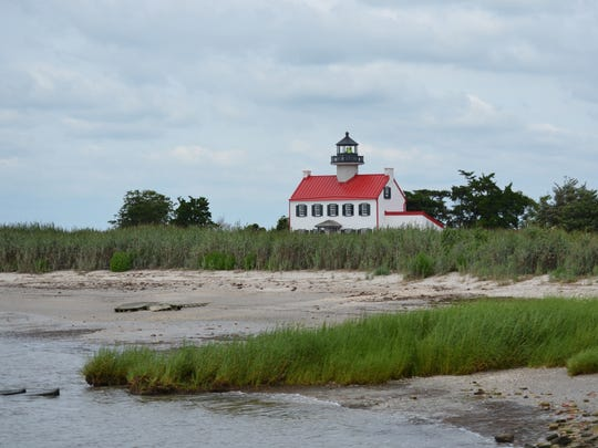East Point Lighthouse is beaming with a bright white
